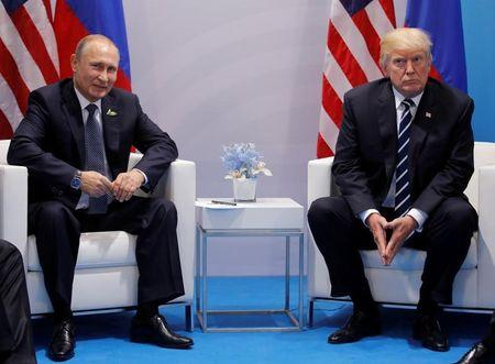 U.S. President Donald Trump meets with Russian President Vladimir Putin during their bilateral meeting at the G20 summit in Hamburg