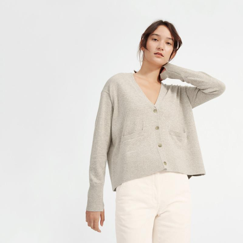 The Cashmere Square V-Neck Cardigan