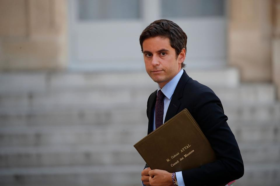Gabriel Attal arrivant à l'Elysée le 7 juillet 20202 (AP Photo/Francois Mori) (Photo: ASSOCIATED PRESS)