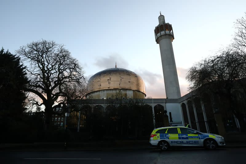 General view shows outside of the London Central Mosque in London