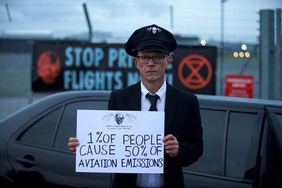 The protesters have targeted Farnborough Airport in Hampshire (Extinction Rebellion/PA)