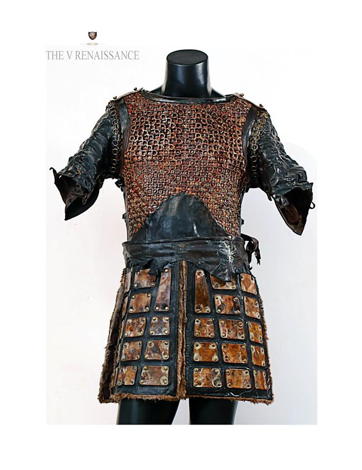 <p><span>The shoulder guard of the Khilji armour consists of 3 layers each. Each layer employed a different technique on leather with design elements inspired from the era. The top chest plate is made from another special kind of Italian Leather and an extensive process of engraving and sculpting has gone into it. </span> </p>
