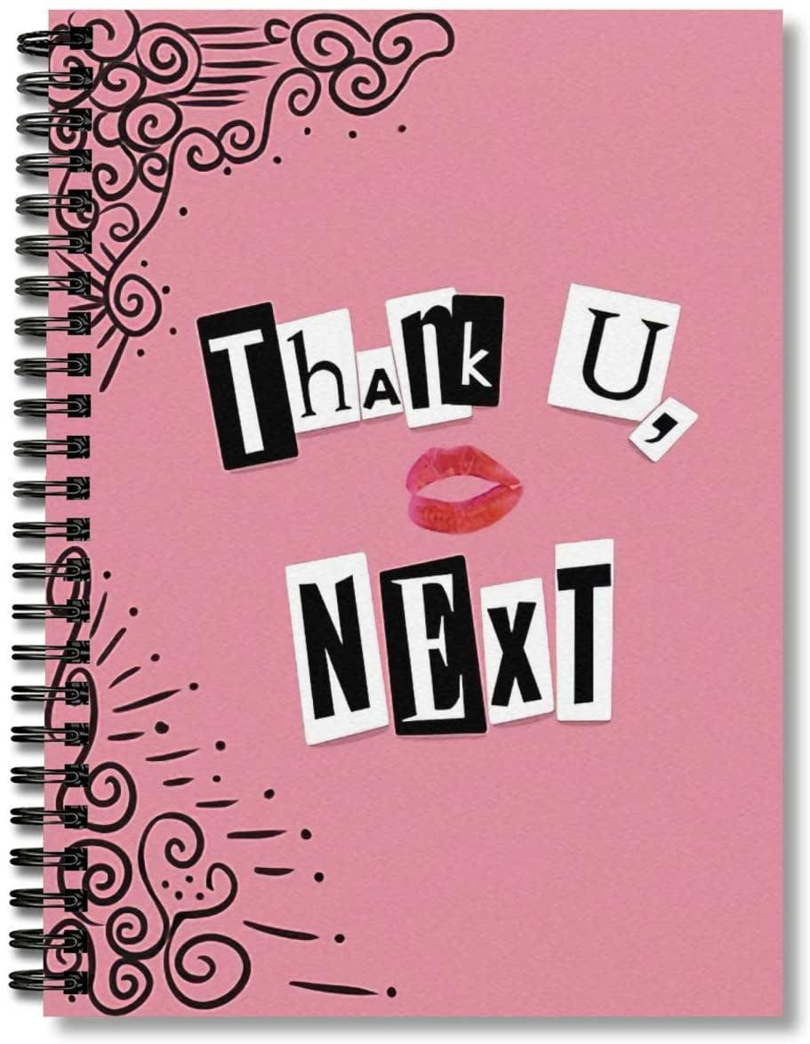 <p>If they love to journal, they'll adore this <span><b>Thank U, Next</b> Hardcover Spiral Notebook </span> ($10). It's such a fun way for them to reflect and journal.</p>