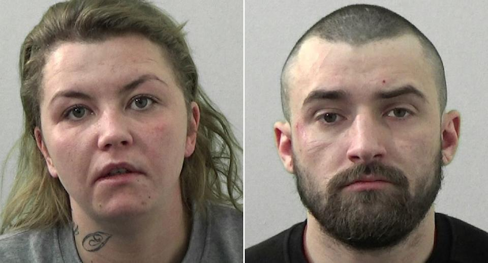 Rebecca McNally and Lewis Herman were jailed for the brutal attack on Jordan Storey. (Northumbria Police)