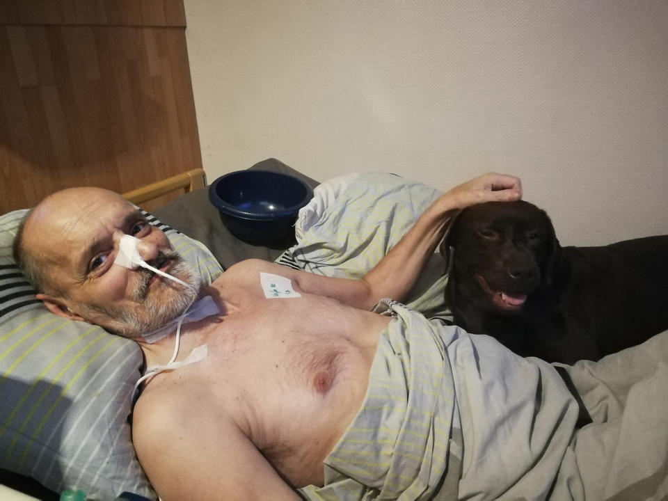 Alain Cocq is now travelling to Switzerland after he was denied euthanasia. Source: Newsflash/Australscope