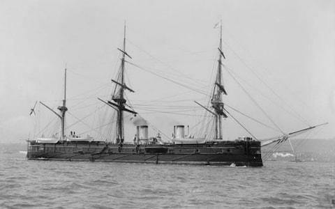 <span>The Dmitri Donskoii was sunk in 1905 during the Russo-Japanese war</span> <span>Credit: Shinil Group </span>