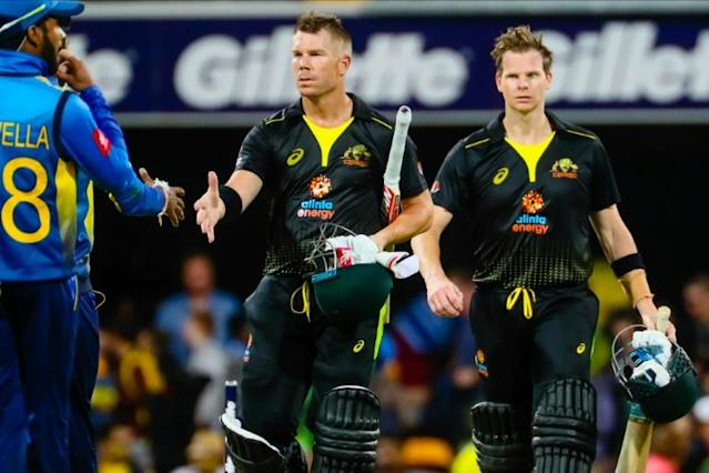 Australia's David Warner and Steve Smith have featured in the two opening T20 matches of the ongoing series in South Africa (AFP Photo/Patrick HAMILTON)