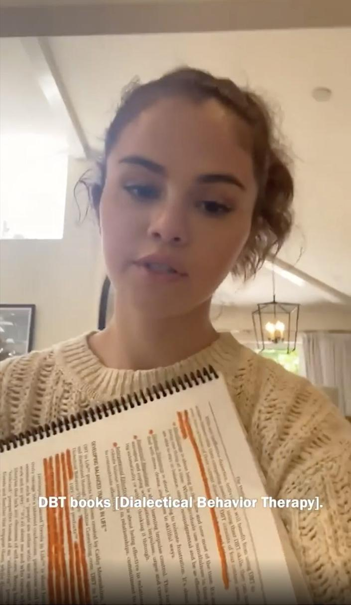 Selena Gomez walked fans through her daily self-care routine.