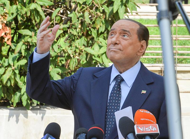 "Former Italian Prime Minister Silvio Berlusconi leaves San Raffaele hospital in Milan, 14 September 2020. Silvio Berlusconi said suffering from COVID-19 was ""the most dangerous ordeal of my life"" as he was discharged from Milan's San Raffaele hospital on Monday. ANSA/Andrea Fasani (Photo: ANSA)"