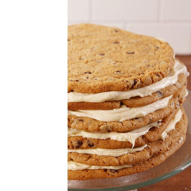 """<p>If your dad will take any excuse he can find to chow down on cookies, this giant cookie cake is for him.</p><p><em><strong>Get the recipe from <a href=""""https://www.delish.com/cooking/recipe-ideas/recipes/a51724/chocolate-chip-cookie-cake-recipe/"""" rel=""""nofollow noopener"""" target=""""_blank"""" data-ylk=""""slk:Delish"""" class=""""link rapid-noclick-resp"""">Delish</a>. </strong></em></p>"""