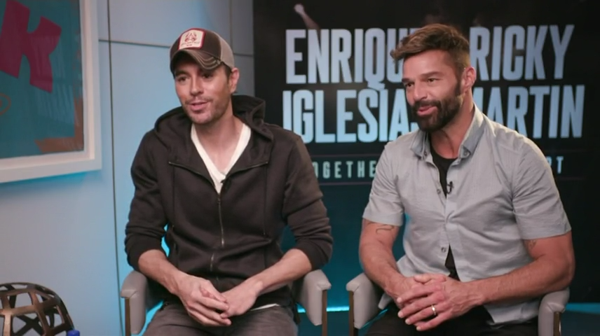 """Ricky Martin and Enrique Iglesias are hitting the road together for a co-headlining tour, which Iglesias promises will be """"an incredible experience."""""""