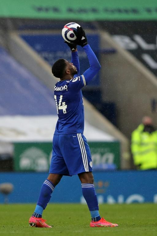 My ball: Kelechi Iheanacho took home the match ball after scoring his first Premier League hat-trick in a 5-0 thrashing of Sheffield United