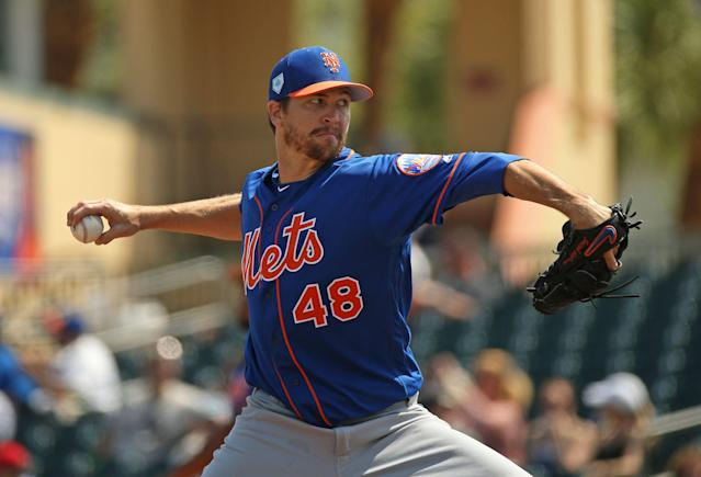 The Mets' strength begins with their starting pitching. (David Santiago/Miami Herald via AP)