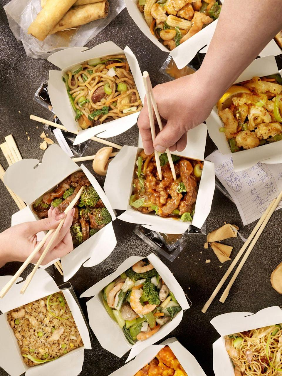 <p>With your annual Christmas Day feast less than 24 hours away, spare yourself added time in the kitchen by ordering takeout from your favorite local restaurant. Serve it up buffet style, so everyone can help themselves!</p>