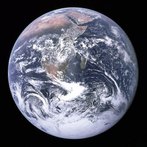 The Blue Marble image of Earth taken by Jack Schmitt in December 7 1972 while travelling to the Moon - Credit: Nasa