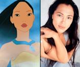 """<div class=""""caption-credit""""> Photo by: Walt Disney/Everett Collection</div><b>Pocahontas/Irene Bedard</b> <br> The beautiful Native American actress and singer was both the vocal and visual inspiration for Pocahontas (1995)."""
