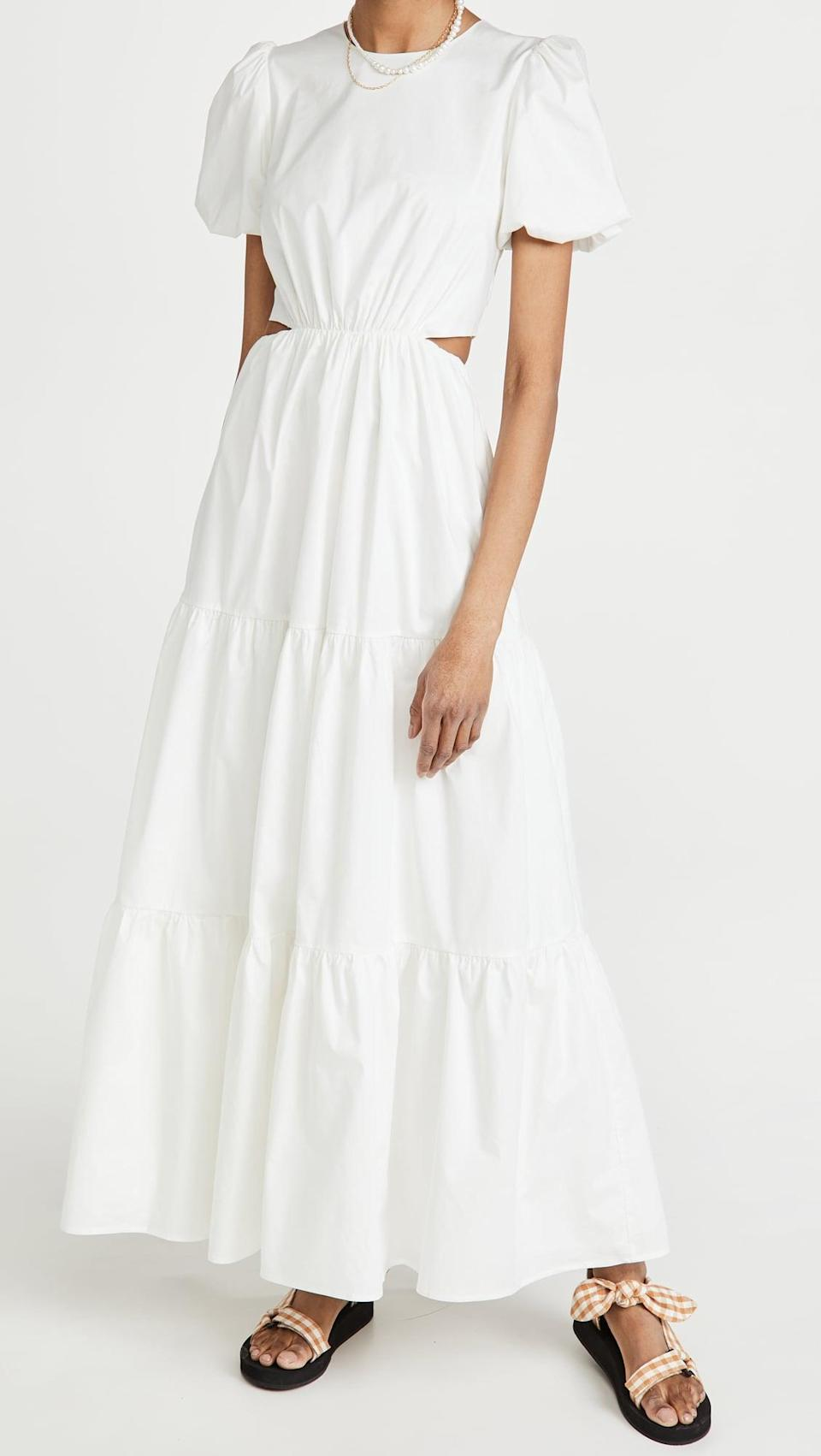 <p>The practical Cancer prefers to lounge at home, but when they do venture outside, it's usually in a classic fit. The <span>WAYF Plaza Cut Out Tiered Maxi Dress</span> ($148) can be dressed up or down and pairs well with Cancer's many moods.</p>
