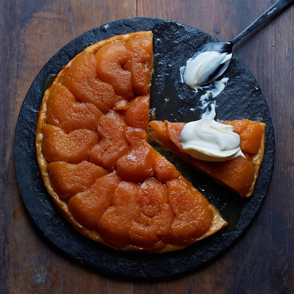 "<p>Golden Delicious apples are perfect in this classic version of tarte tatin from chef Jonathan Waxman because they get perfectly tender while they bake but never lose their shape.</p><p><a href=""https://www.foodandwine.com/recipes/apple-tarte-tatin"">GO TO RECIPE</a></p>"
