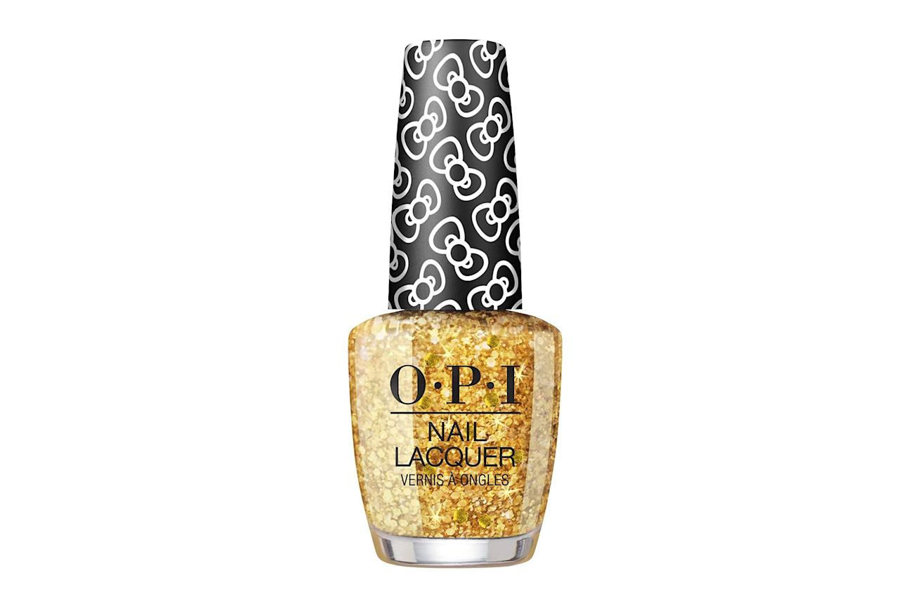 "<p><strong>BUY IT: $10.50; <a href=""http://www.amazon.com/OPI-Polish-Collection-Lacquer-Glitter/dp/B07TF9S1WK/ref=as_li_ss_tl?ie=UTF8&linkCode=ll1&tag=slbeuchristmasnailpolishesjsims1019-20&linkId=b90c13cdb1705fb3dee02481b58b3c15&language=en_US""><em>amazon.com</em></a></strong></p> <p> This sparkling gold shade will carry you through the holiday season and into the new year. </p>"