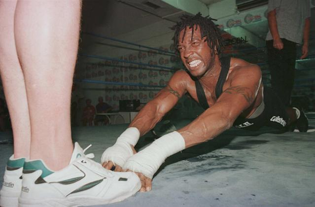 Benn during a training camp in Tenerife in 1996. (Credit: Getty Images)