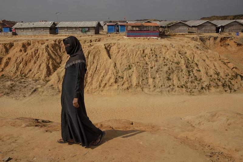 The outskirts of Kutupalong, the far edge of construction in the Cox's Bazar complex. | James Nachtwey for TIME