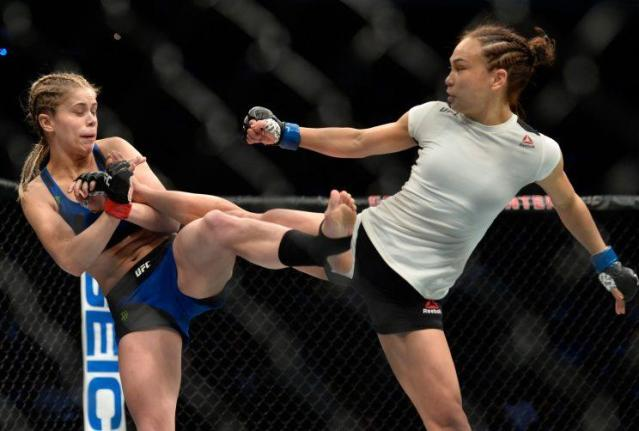 The Dec. 17 bout between Paige VanZant (L) and Michelle Waterson was the highest-rated UFC show on Fox since April 2013. (Getty Images)