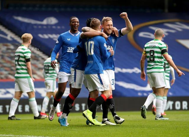 Steven Davis was on target as Rangers beat rivals Celtic in their Scottish Cup fourth-round tie at Ibrox
