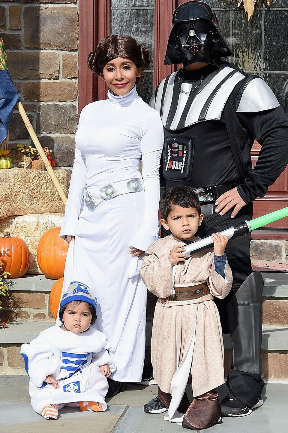 <p><em>Jersey Shore</em>'s Nicole 'Snooki' Polizzi, husband Jionni Lavalle, and their kids dressed up as <em>Star Wars</em> characters in 2015. They have another kiddo now, so it'll be fun to see what they break out for 2020...</p>