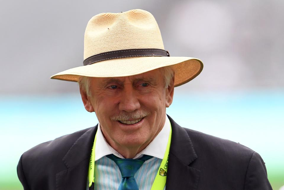 This photo taken on December 27, 2016 shows former Australian cricket captain and Channel Nine cricket commentator Ian Chappell.