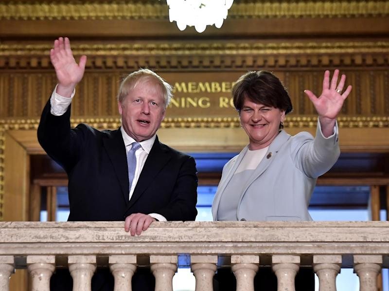 Boris Johnson's proposed deal has met with cautious approval from DUP leader Arlene Foster: Getty