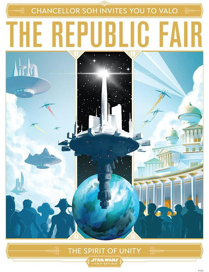 A poster inviting citizens to The Republic Fair