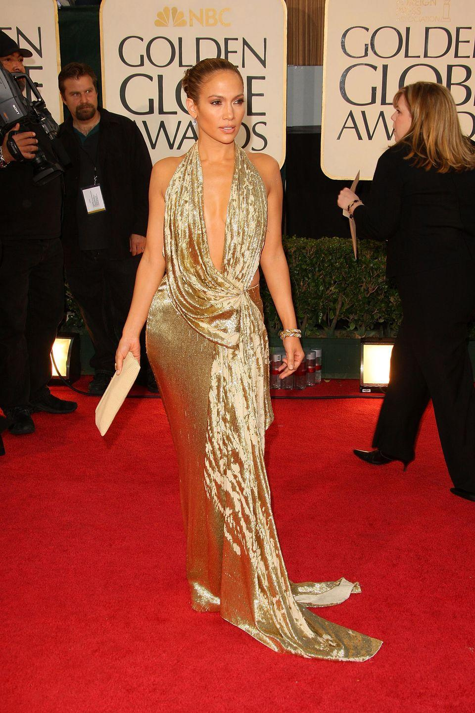 <p><strong>When: </strong>January 2009</p><p><strong>Where: </strong>The Golden Globes</p><p><strong>Wearing: </strong>Marchesa</p>