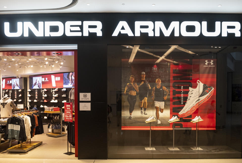 HONG KONG, CHINA - 2020/09/16: American multinational clothing brand Under Armour store seen in Hong Kong. (Photo by Budrul Chukrut/SOPA Images/LightRocket via Getty Images)