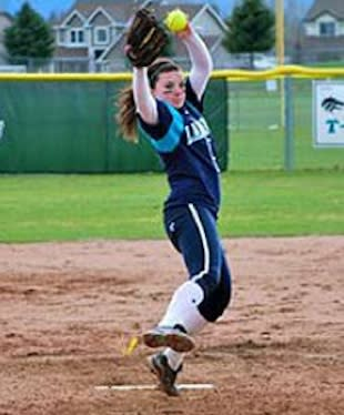 Lake City pitcher and slugger Casey Stangel — Lake City softball