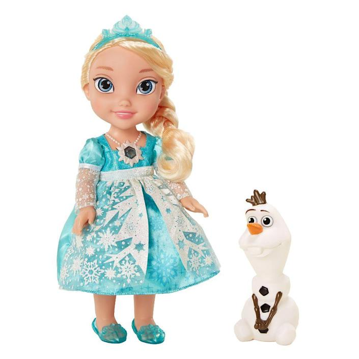 """<p><a class=""""link rapid-noclick-resp"""" href=""""https://www.amazon.com/Disney-Frozen-Singing-Discontinued-manufacturer/dp/B00JKNRYPM?tag=syn-yahoo-20&ascsubtag=%5Bartid%7C10063.g.34738490%5Bsrc%7Cyahoo-us"""" rel=""""nofollow noopener"""" target=""""_blank"""" data-ylk=""""slk:BUY NOW"""">BUY NOW</a><br></p><p>It could easily be said that 2014 was the year of <em>Frozen</em>. The unanticipated phenomenon (released at the end of 2013) led to more merchandise sales than Disney probably could have dreamed. One of the biggest and hard-to-get toys was the <em>Frozen</em> Snow Glow Elsa Doll. Her dress lit up, she came with a little figurine of Olaf, and when you lifted her arm up, <a href=""""https://www.youtube.com/watch?v=pT2LYKiC2Tw"""" rel=""""nofollow noopener"""" target=""""_blank"""" data-ylk=""""slk:she sang """"Let it Go."""""""" class=""""link rapid-noclick-resp"""">she sang """"Let it Go.""""</a> Now in 2018, some of us still haven't been able to let it go.</p>"""