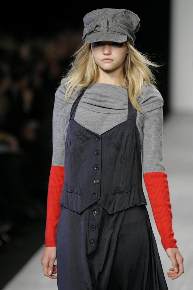 Gemma Ward walking the runway of the fall/winter 2006 Marc by Marc Jacobs show during New York Fashion Week.