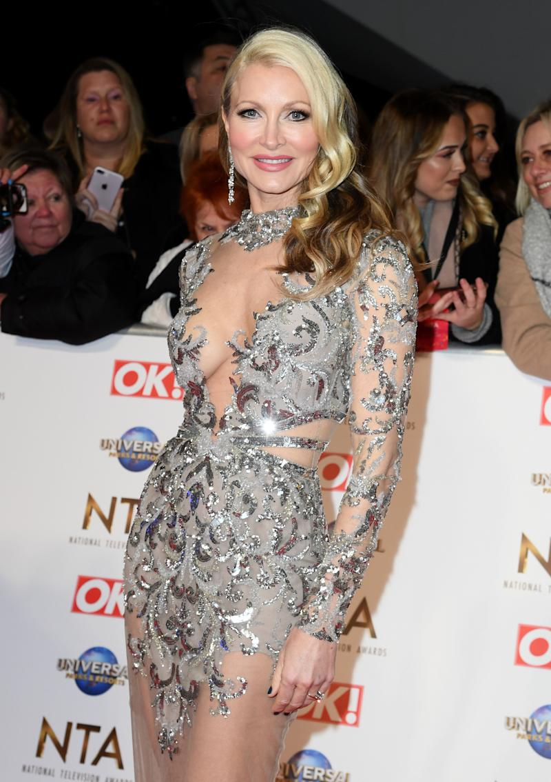 Caprice at this year's NTAs shortly before her Dancing On Ice exit (Photo: Gareth Cattermole via Getty Images)