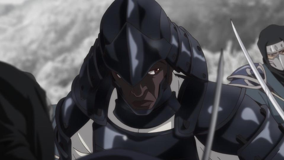 Yasuke the Black samurai is shown on the battlefield in Netflix's new anime based on the real life figure