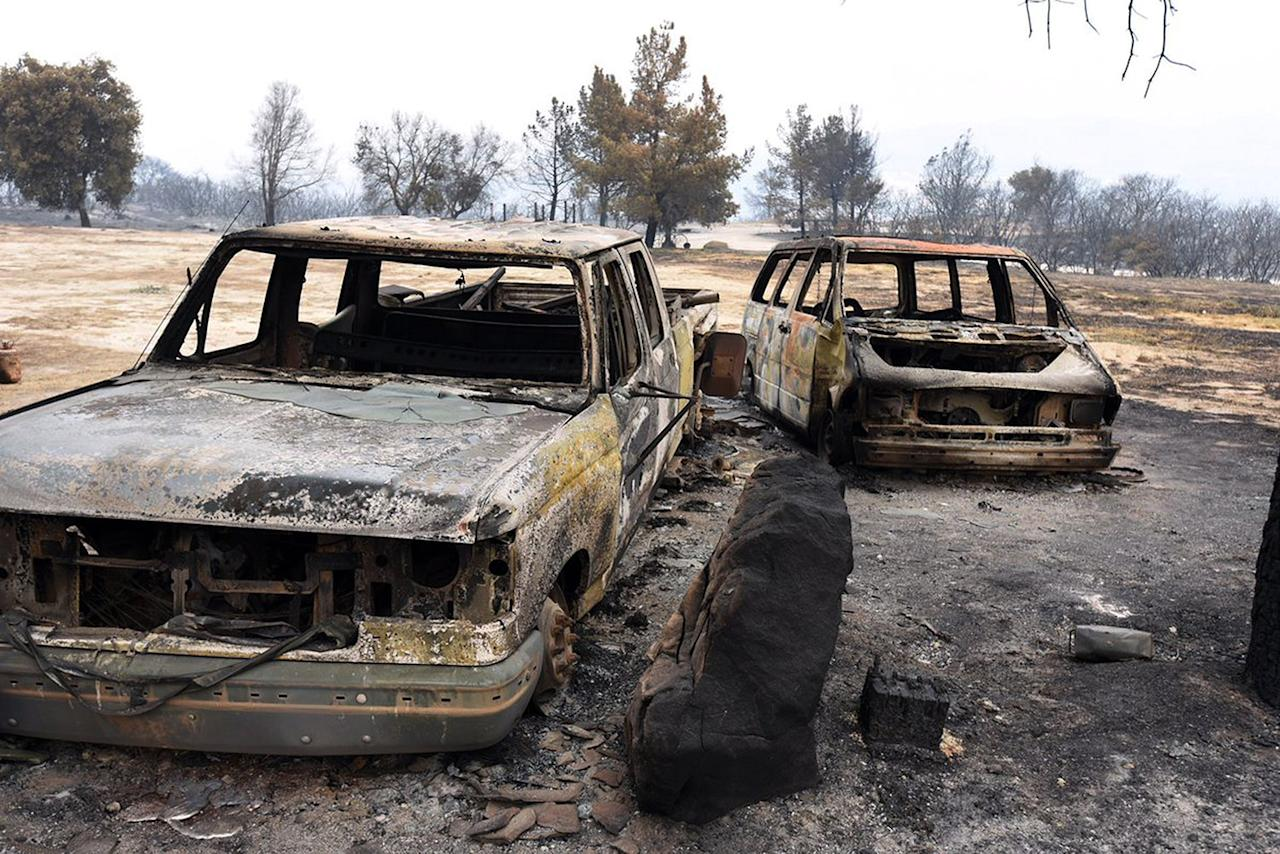<p>This photo provided by the Santa Barbara County Fire Department shows Rancho Alegre Outdoor School, a camp which suffered extensive damage from the Whittier fire near Santa Barbara, Calif., July 7, 2017. (Mike Eliason/Santa Barbara County Fire Department via AP) </p>