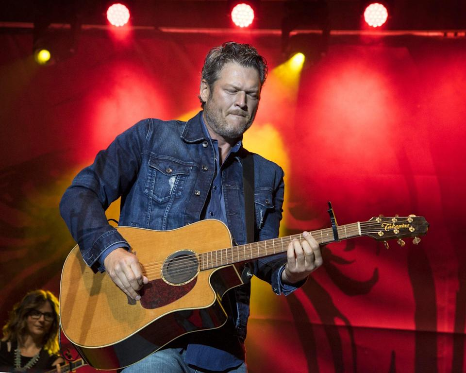 Blake Shelton And Ryman Hospitality Properties Inc. Press Conference To Celebrate The Grand Opening Of Ole Red Tishomingo Restaurant And Bar