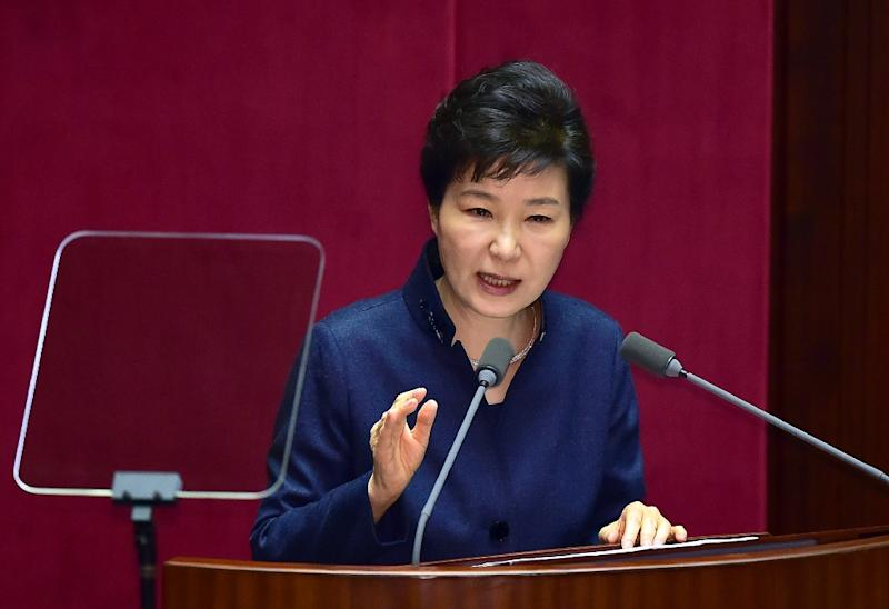 Pyongyang has habitually mounted colourful and highly sexist personal attacks on South Korean President Park Geun-Hye, who has taken a tough stance towards North Korea (AFP Photo/Jung Yeon-Je)