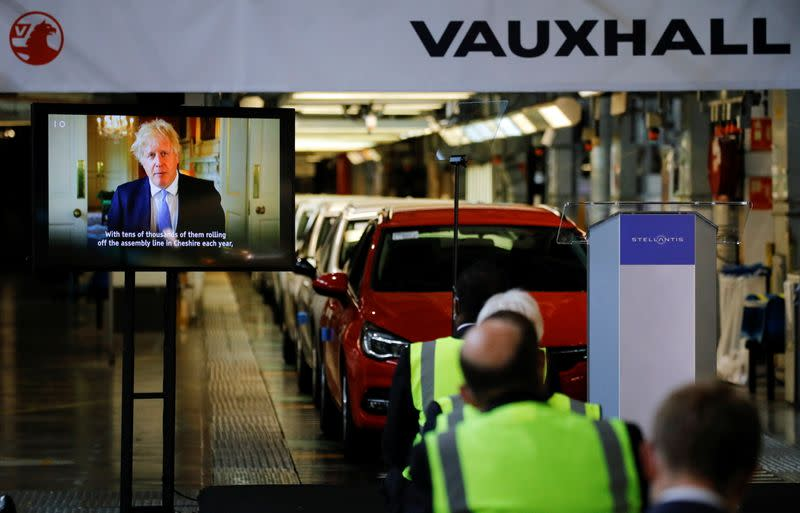Carmaker Stellantis makes investment announcement at British Vauxhall car factory