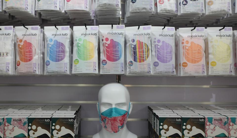Products at a masklab shop in Causeway Bay. Photo: Xiaomei Chen