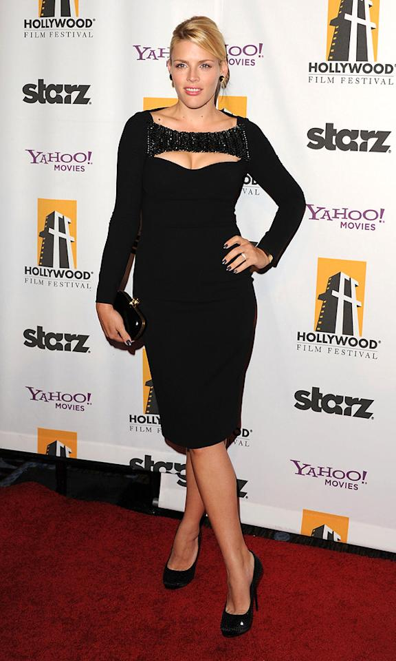 """<a href=""""http://movies.yahoo.com/movie/contributor/1800355565"""">Busy Phillips</a> at the 15th Annual Hollywood Film Awards in Beverly Hills, California on October 24, 2011."""