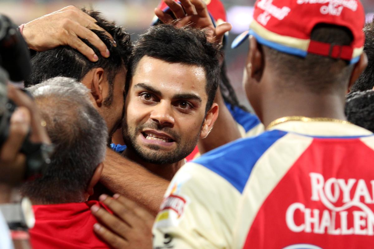 Virat Kohli after winning the match 21 of the Pepsi Indian Premier League between The Royal Challengers Bangalore and The Delhi Daredevils held at the M. Chinnaswamy Stadium, Bengaluru  on the 16th April 2013. (BCCI)