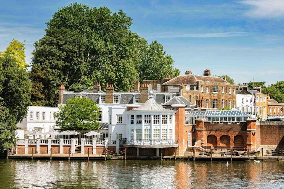 """<p>For something elegant and laidback that affords the most glorious Hampton Court location overlooking the River Thames, the Mitre makes for a relaxing weekend trip from London while just 40 minutes from Waterloo. The riverside boutique hotel has just a handful of rooms but they're packed with character: think four-poster beds, botanical-print wallpaper and riviera-style drinking spaces.</p><p>There are two things we love most about the impressive hotel: its top-notch hosting (the staff will make you feel like you're family) and how it welcomes all types of guests, from city dwellers to families and history-lovers to four-legged guests.</p><p>The Mitre is packed with character and quirks, too. You must stop for a whisky from the honesty bar in the beautiful library and you'll find cookies and a massage oil placed in your room. </p><p>When the weather is warm, cocktails and nibbles on the terrace is required, while rainy days are saved by the roll-top baths in the rooms, where you can easily while away an afternoon with your favourite read.</p><p><strong>Distance from London by train:</strong> 40 minutes from London Waterloo to Hampton Court Station.</p><p><a class=""""link rapid-noclick-resp"""" href=""""https://go.redirectingat.com?id=127X1599956&url=https%3A%2F%2Fwww.booking.com%2Fhotel%2Fgb%2Fmitre-hotel.en-gb.html%3Faid%3D2070929%26label%3Dhotels-outside-london-intro&sref=https%3A%2F%2Fwww.redonline.co.uk%2Ftravel%2Finspiration%2Fg34469437%2Fhotels-outside-london%2F"""" rel=""""nofollow noopener"""" target=""""_blank"""" data-ylk=""""slk:CHECK AVAILABILITY"""">CHECK AVAILABILITY</a></p>"""