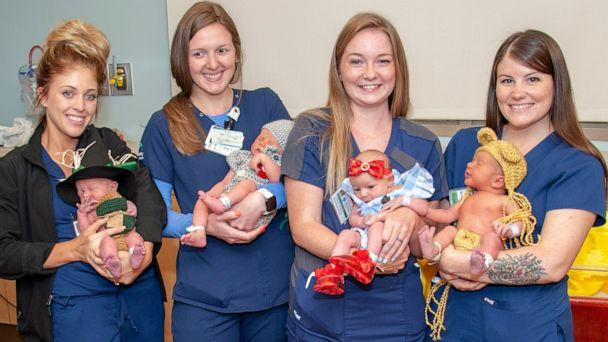PHOTO: Newborns dressed up as 'Wizard of Oz' characters in honor of film's 80th anniversary (Allegheny Health Network)