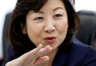 Japan's Internal Affairs and Communications Minister Seiko Noda speaks during an interview with Reuters in Tokyo