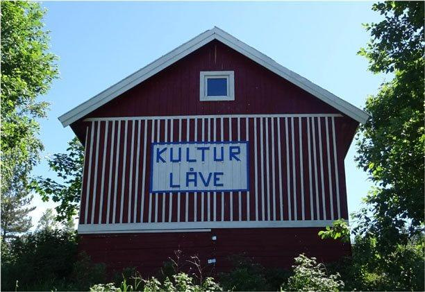 A barn where a gathering was held despite Covid-19 restrictions in Norway.