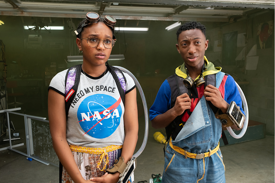 "<p>Two teen geniuses invent time travel-enabling backpacks. But when one of their brother's killed in a police shooting, they attempt to use their new device to save him.</p><p><a class=""link rapid-noclick-resp"" href=""https://www.netflix.com/title/80216758"" rel=""nofollow noopener"" target=""_blank"" data-ylk=""slk:Watch It Now"">Watch It Now</a></p>"